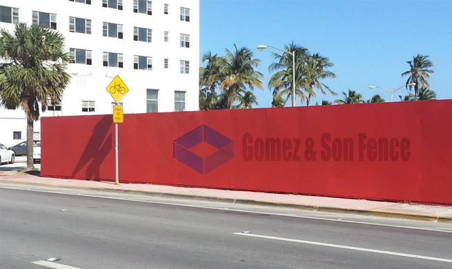 Temporary Fence Installed by Gomez Fence